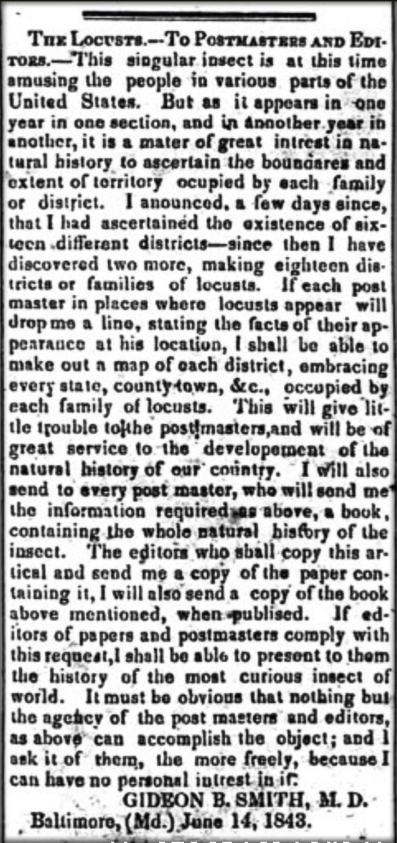 Gideon Smith's Ad for Observations, July 14, 1843. Image: Yazoo City Whig and Political Register.