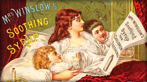 Mrs. Winslow's Soothing Syrup. Image: Wellcome Collection.