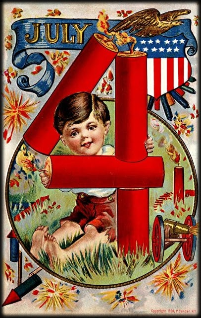 Vintage July Fourth Cards. Image: House of Hawthornes..