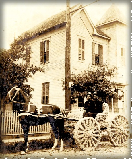 Juneteenth Carriage c. 1895-1905, 319 Robin Street, Houston, Texas. Image: African American Library at The Gregory School; Houston Public Library.