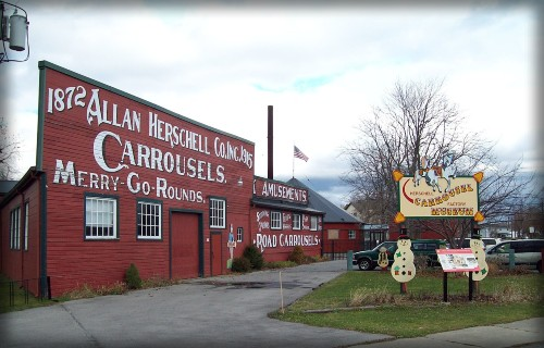 Allan-Herschell Carousel Factory, 2008. Image: Wikipedia.
