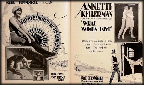 What Women Love, Annette Kellermann, 1920. Image: Wikipedia.