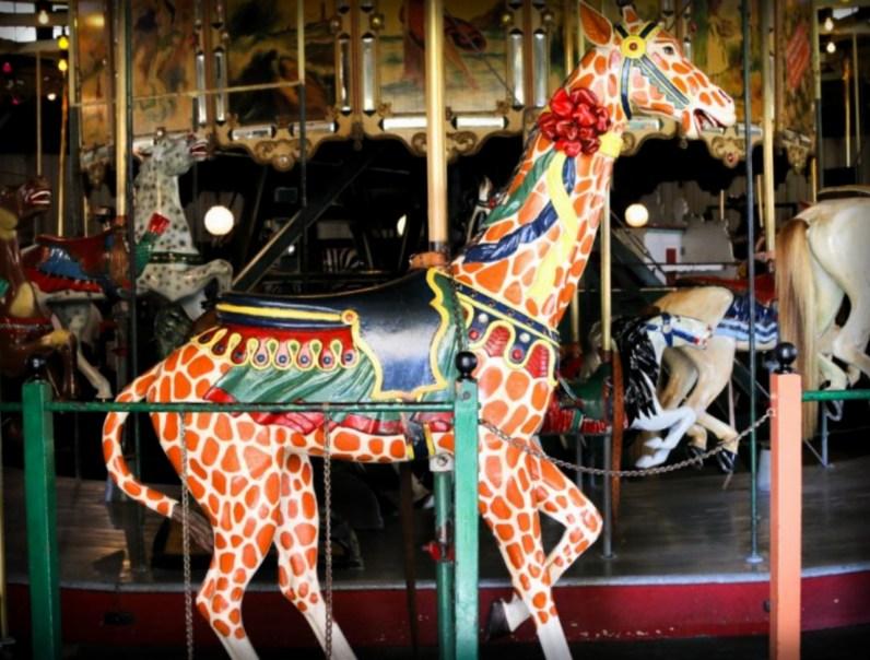 Balboa Park Carouse Giraffe. Image: Friends of Balboa Park.