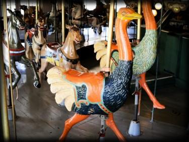 Balboa Park Carouse Ostrich. Image: Friends of Balboa Park.