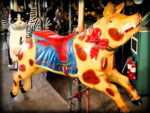 Balboa Park Carousel, Pig. Image: Friends of Balboa Park.