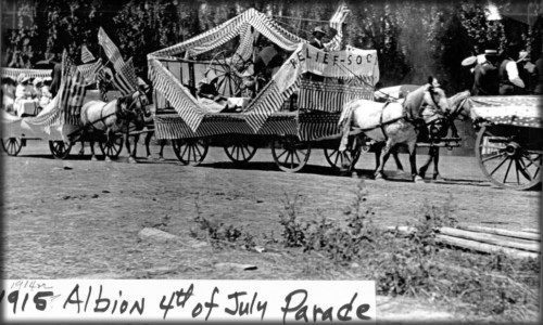 Victorian July Fourth Parades-Albion, Michigan, 1915. Image: Albion Historical Society.