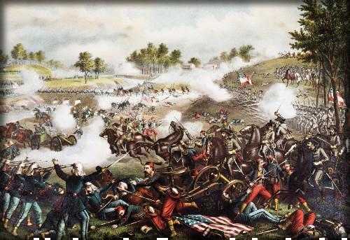 First Battle of Bull Run, Kurz & Allison. Image: Library of Congress.