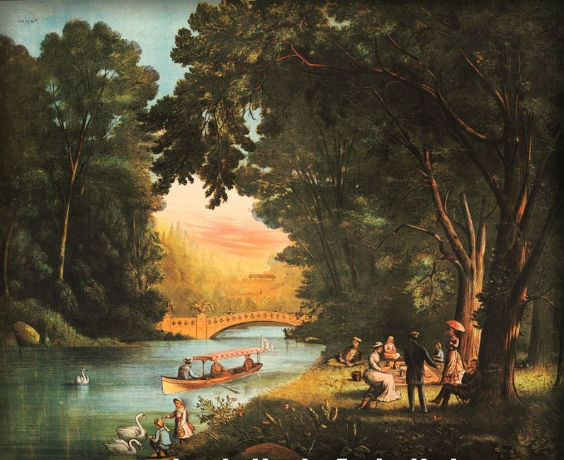 Central Park Picnic, circa 1882. Image: Library of Congress.