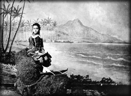 Surfing Princess Kaiulani, Age 6, c. 1881. Image: Hawaii State Archives.