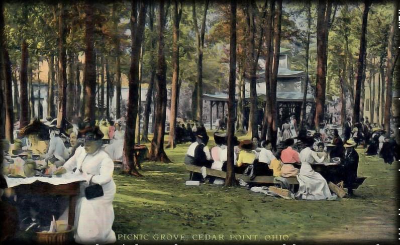 Post Card From Picnic Grove At Cedar Point, Sandusky, Ohio, 1911. Image: Wikipedia.