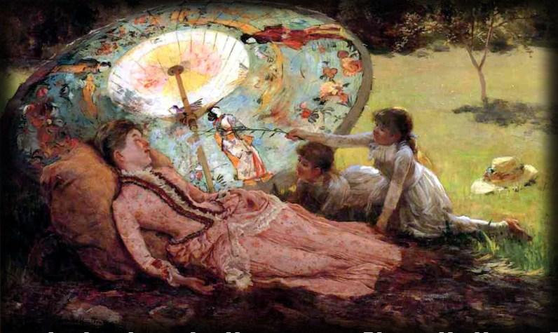 Lady With Parasol by Hamilton Hamilton, 1918. Image: Athenaeum.org.