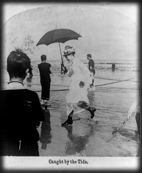 Victorian Seaside Images, Woman With Parasol, c. late 1890s. Image: Library of Congress.