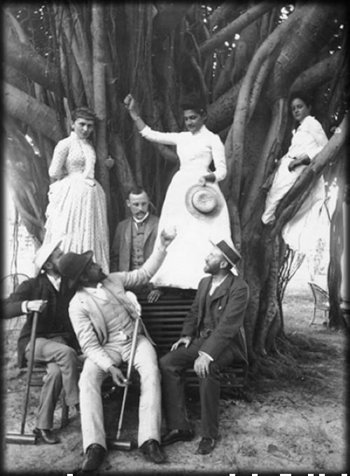 Surfing Princess Kaiulani in Her Banyan Tree, c. 1890s. Image: Wikipedia.