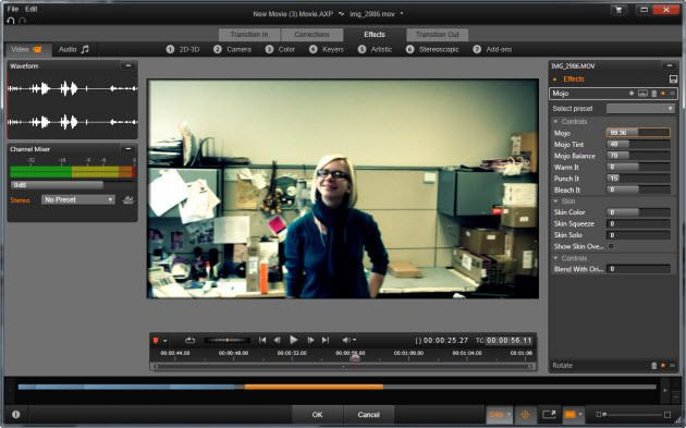 Video Editing user interface