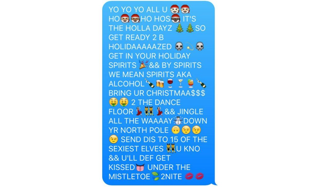 holiday chain text