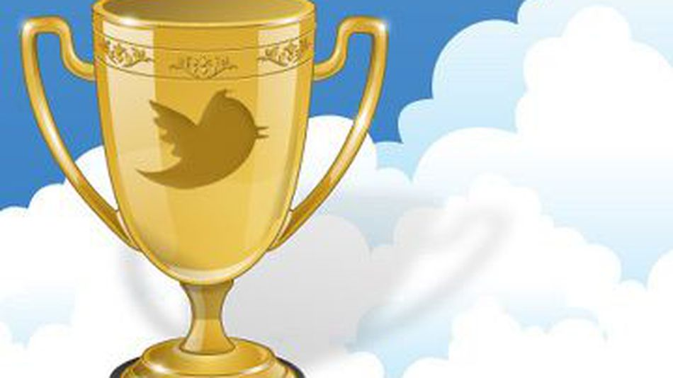 A prize being given to twitter followers