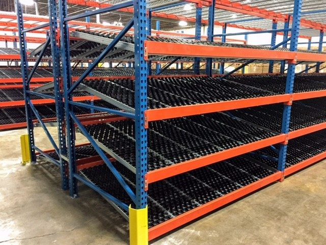 carton flow shelving warehouse rack