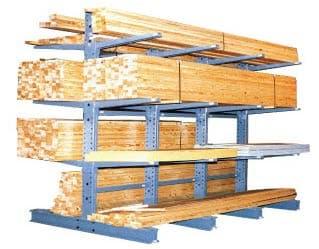 a frame lumber storage rack