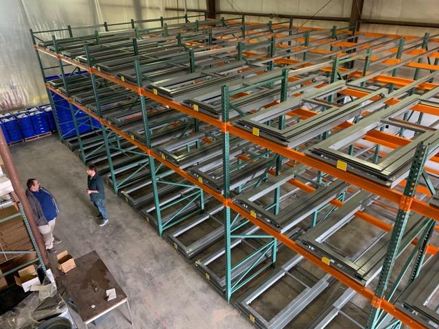 push back pallet racking sliding shelves