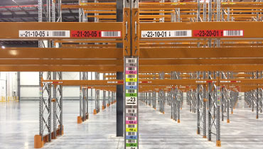 warehouse rack and shelf labels