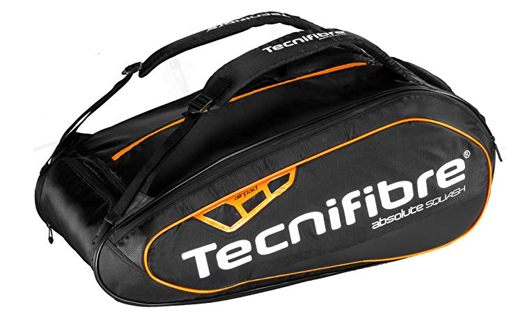 Tecnifibre Absolute 12R Squash Bag Orange/Black