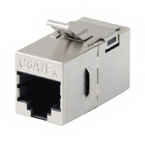 Cat6A RJ45 Keystone Mount Coupler, Shielded Female - Female CKM-C6AS