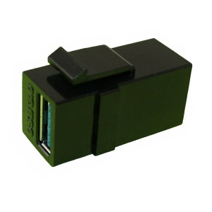 USB 3.0 AA Keystone Mount Coupler, Female - Female CKM-USB3AA