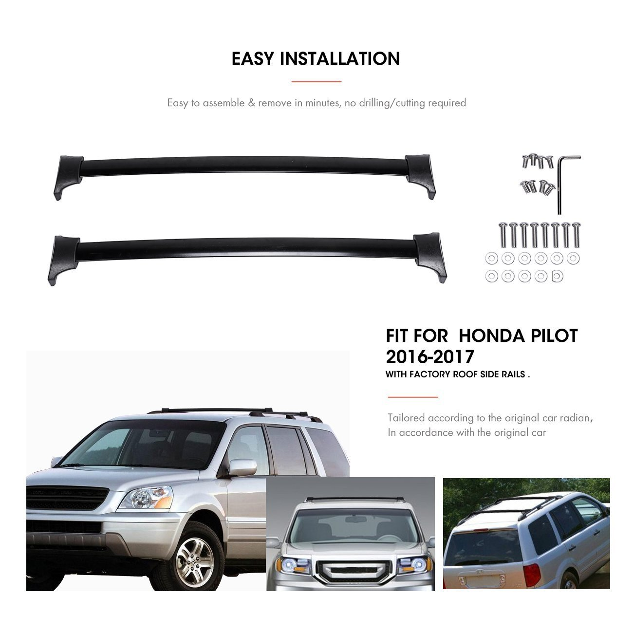 Special Cross Bar For Honda Pilot 2016 2019 With Side Rail