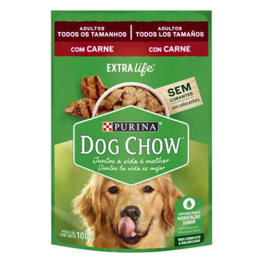 DOG CHOW SACHE AD RAC PEQ CNE/ARROZ 100G