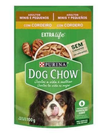 DOG CHOW SACHE ADULTO RAÇAS PEQ CORD/ARROZ 100G
