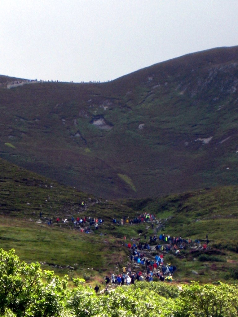 Pèlerins Croagh Patrick Irlande