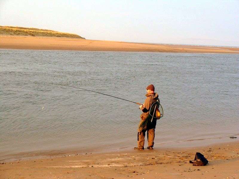 Pêcheur plage Malahide Dublin Irlande