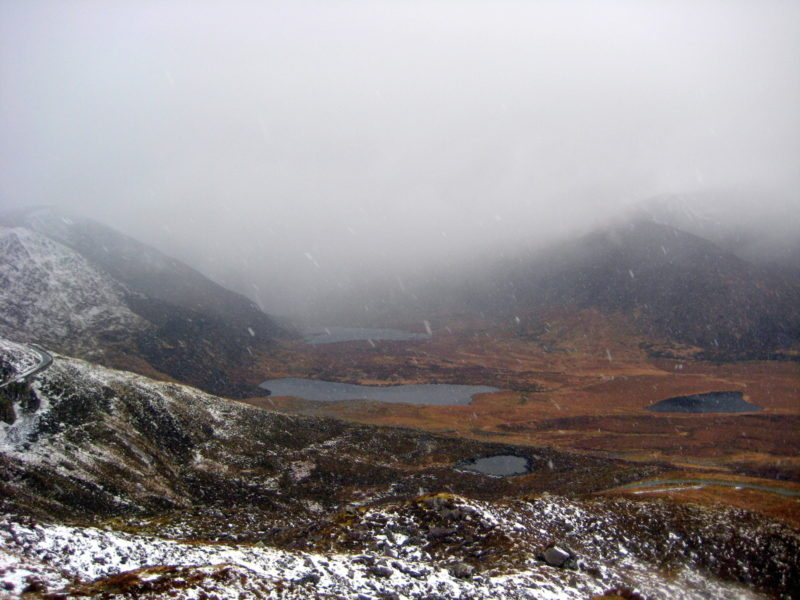 Conor Pass Dingle sous la neige