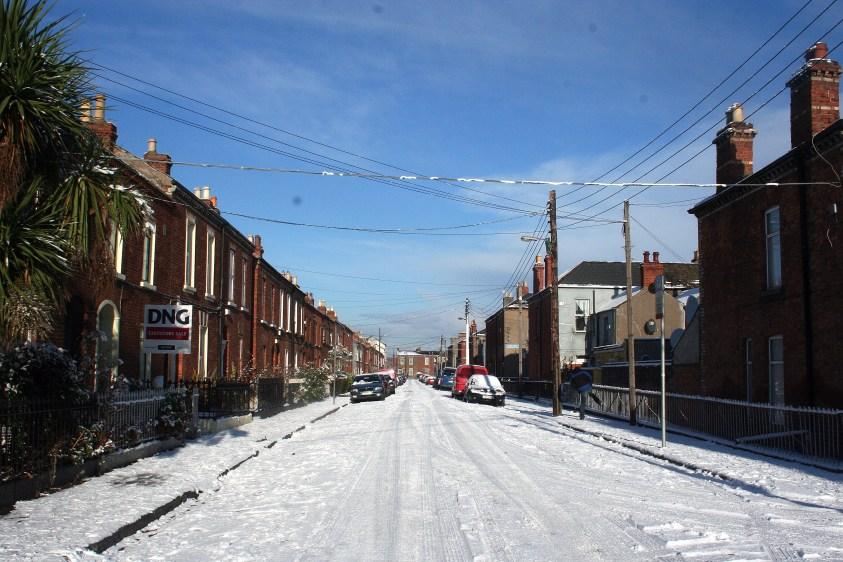 Rue Dublin enneigée