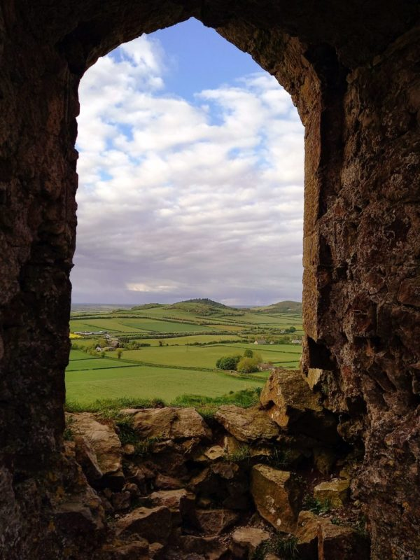 Vue depuis le Rock of Dunamase Irlande