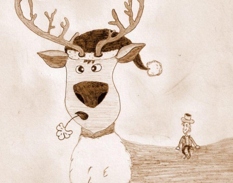 Conte leprechaun et renne de Noël