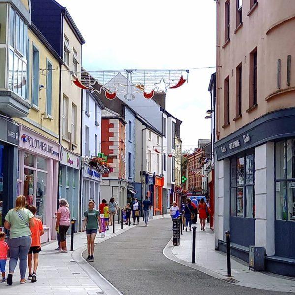 Rue piétonne Wexford town Irlande