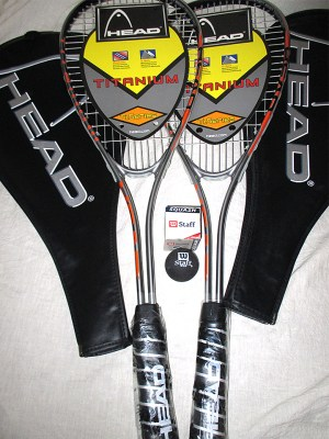 Pair of Head Ti Speed Squash Rackets - Racquets4Less.com