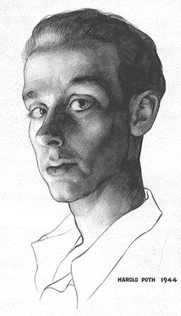 Hal Poth self portrait illustration from 1944