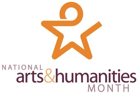 National Arts & Humanities Month logo