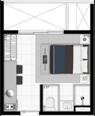 Apartamento com 19m2