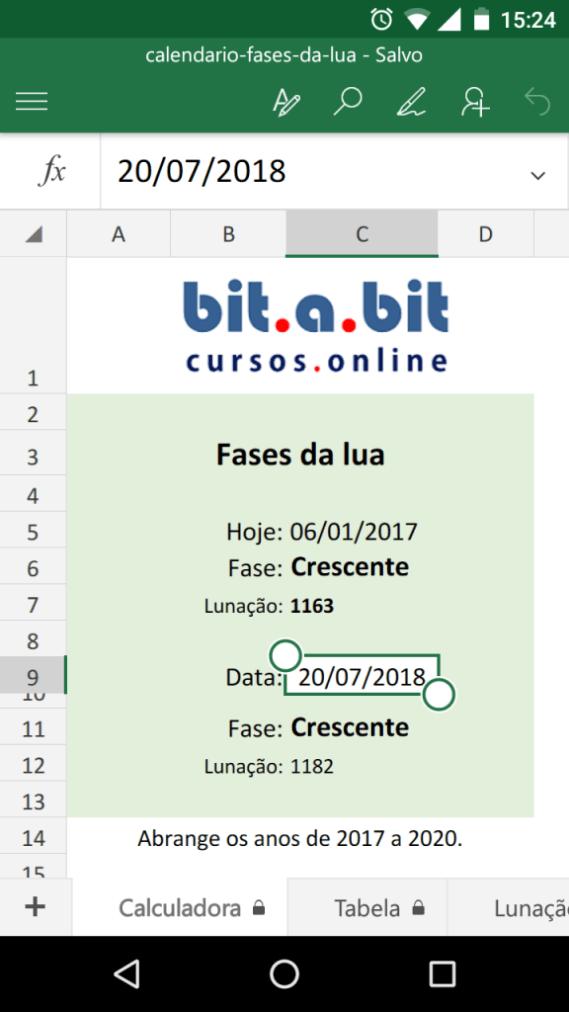 Calendario 2020 Portugal Excel.Calendario De Fases Da Lua Em Excel Bit A Bit