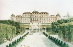 Palácio Belvedere Viena pintura de Adolf Hitler década de 1920