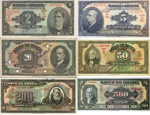 Família de cédulas mil-réis Banco do Brasil