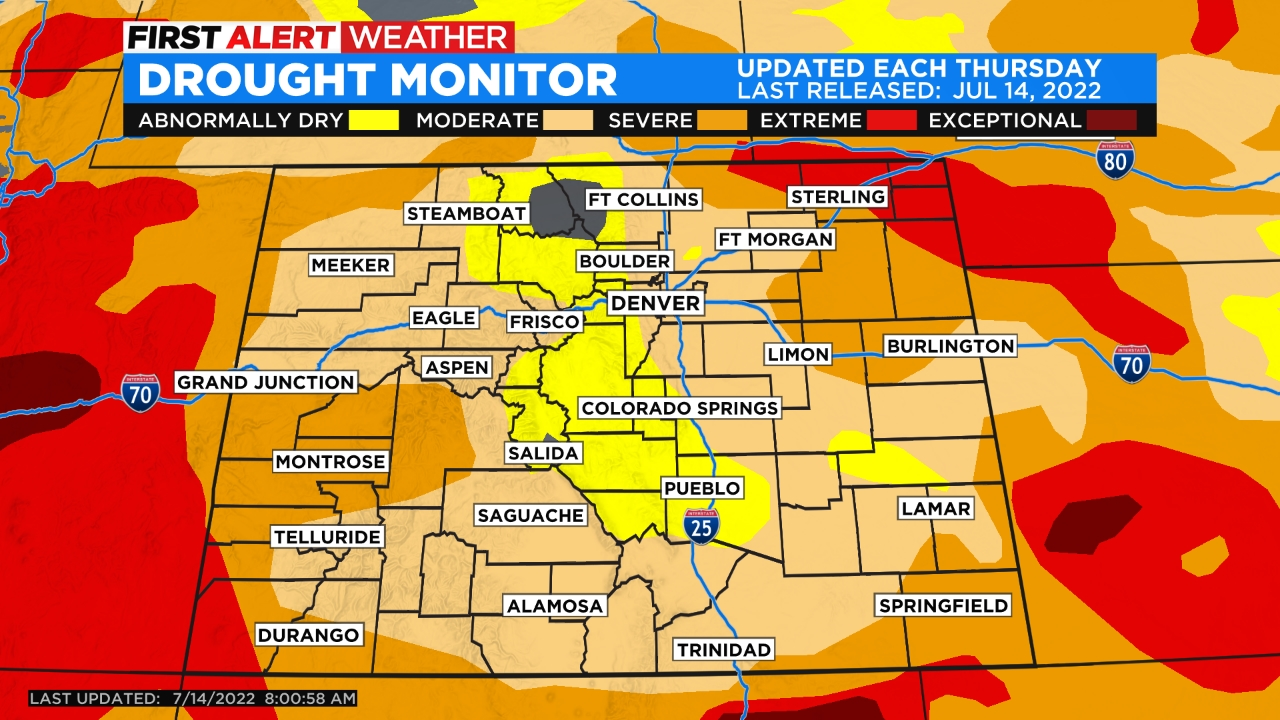 drought monitor Mini Heatwave For Holiday Weekend