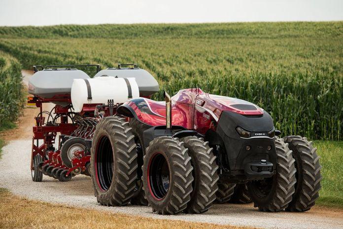 A partir de 2020, a paisagem das fazendas brasileiras começa a ser mudada de verdade com chegada de tecnologias como os veículos autônomos. Foto: Divulgação