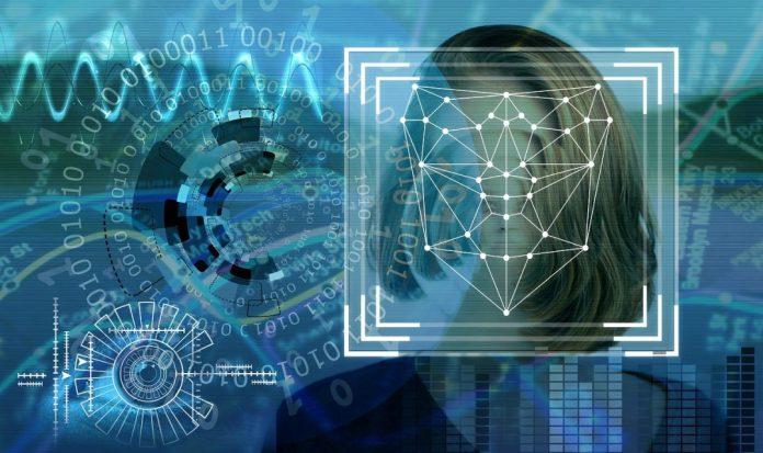 Imagem futurista reconhecimento facial de mulhers Ilustração: Pixabay