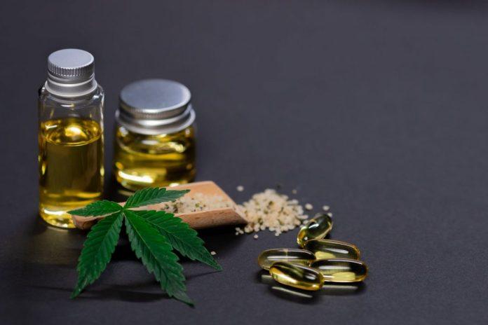 photo of marijuana edibles on dark background