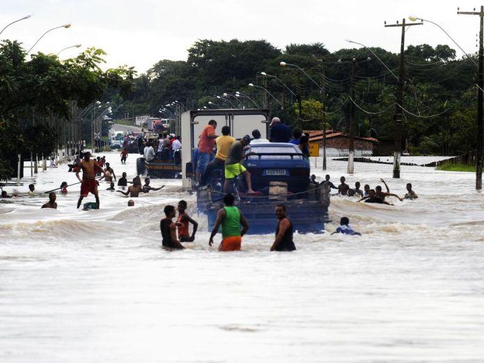eventos climáticos extremos Enchentes município de Trizidela do Vale no estado do Maranhão