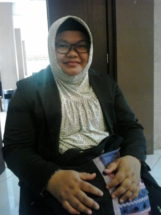 Imma Saidatun Nihlah, Anggota LKP (Lembaga Keterampilan dan Pelatihan) PC Fatayat NU Kabupaten Kendal